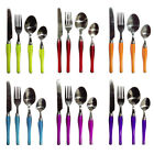 NEW 17PC PIECES CUTLERY SET STAINLESS STEEL KITCHEN DINING TABLEWARE 8 COLOURS