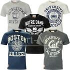 Mens American States College Print University Varsity Cotton T-Shirt Size