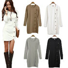 Women Knit Long Sleeve Sheath Bodycon Blouse Evening Party Cocktail Winter Dress