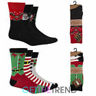Mens Xmas Novelty Rudolph Socks Christmas Stocking Filler Funny Socks 3 6 Pack