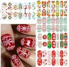 Luminous Glow Full Wraps Christmas Santa Nail Art Stickers Tips Nail DIY Decals