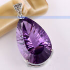 LuxlurTop Rich Purple Amethyst .925 Sterling Silver Pendants