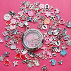 Wholesale 50p/100p/200p lot Floating Charms for Glass Living Memory Locket newly