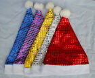 Unisex Adult Deluxe Sequin Christmas Santa Light Up Hat Xmas Party Festive Gifts