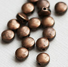 50 Puff Coin Spacer Beads 6x3.5mm