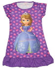 Disney Princess Sofia the First Girl Pajama Night Gown Wear 3-10 Years Purple