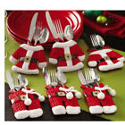 Xmas Christmas Holders Pockets Dinner Table Decor Decorations Cutlery Bag