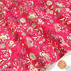 per 1/2 metre/FQ Magical Garden bright pink dressmaking/craft fabric 100% COTTON