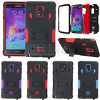 Rugged Hybrid Armor Stand Case Impact Hard Cover For Samsung Galaxy Note 4 N910