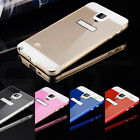 Thin Metal Aluminum Bumper Frame +PC Back Cover Case for Samsung Galaxy Note 4