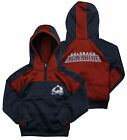 Reebok NHL Youth Girl's Colorado Avalanche 1/4 Zip Active Pullover Hoodie, Navy on eBay