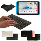 Slim Wireless Bluetooth UK Keyboard with Carry Case for Tesco Hudl 2 8.3""