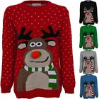 Ladies Christmas XMAS Festive Novelty Polka Dot Women's 3D Reindeer Jumper