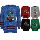 Women's XMAS Christmas Tree Festive Ladies Present Santa Snow Knitted Jumper
