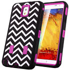 Hybrid Rugged High Impact Hard Rubber Case Cover For Samsung Galaxy Note 3 III