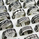 10pcs-30pcs Mix Black Enamel Stainless Steel Fashion Mens Rings Wholesale Lots