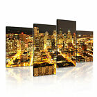 Seattle 2 USA Citysacape 4R-RH Framed Print Canvas Wall Art~ 4 Panels