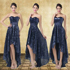 Formal Mother Evening Gown Party Prom Bridesmaid high-low Dress UK Size 6 8 10++