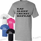 Eat Sleep Cricket Repeat Mens Womens T-Shirt New Cotton top Graphic Gifts tee