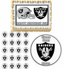 oakland raiders party decorations - Oakland Raiders Edible Birthday Cake Cupcake Toppers Party Decorations Images