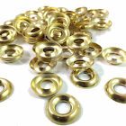 No. 6  BRASS PLATED SCREW CUP WASHER SURFACE MOUNT - FREE UK DELIVERY