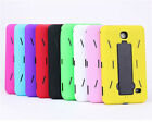"""Heavy Duty Hybrid Silicone Cover Hard Case W/ Stand For Samsung Tab 4 7"""" 7.0"""""""
