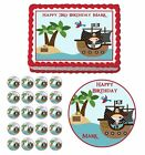 pirate ship birthday cakes - Pirate Ship Boy Treasure Edible Birthday Cake Cupcake Topper Party Decoration