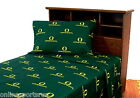 Oregon Ducks Sheet Set Twin to King Sizes White or Green
