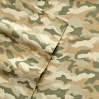 NEW!  CAMO Flannel Cuddl Duds Heavy Sheet Set Twin Full Queen King Camouflage image