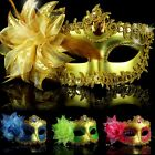 Charm Feather Rhinestone Party masks Sparkle Venetian Masquerade Ladies Mask