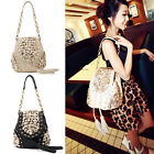 PU Leather Retro Rivet Tassels Handbag Button Shoulder Backpack Evening Bag