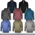 Mens New Chunky Knit Jumper Crew Neck long sleeve pullover Sweater Sweatshirt