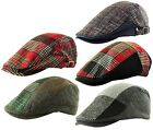 ITZU Co Country Check Tweed Scottish Tartan Lumberjack Cabbie Golf Flat Cap