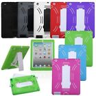 Multi-Color Hybrid Hard Case Cover w/Stand For Apple New iPad 4 4G 4th Gen 3/2