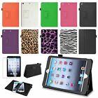Magnetic Leather Folio Stand Case Smart Cover+Film For Apple iPad Mini 1 2 3