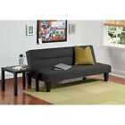 Microfiber Futon Sofa Couch Living Room Furniture Loveseat Modern Bed Black