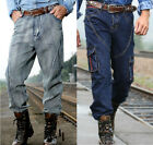 Retro Denim Pants Loose Leisure Outdoor Tide Trousers Jeans Dark and Light