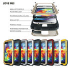 Aluminum Metal Gorilla Glass Water/Shockproof Case for Samsung Galaxy S5 I9600
