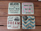 Brand New Ceramic Drink Coasters Humorous & Various Sayings with Cork Backing