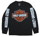 Harley-Davidson Men's T-Shirt, Bar & Shield Long Sleeve Tee, Black 30290028