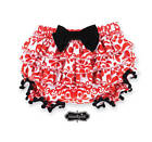 Mud Pie Holiday Christmas Red Minky Damask Ruffle Bloomers  0-6M, 12-18M