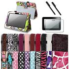 "For Kindle Fire HD 7"" Pattern PU Leather Folio Case Cover/Pen/Screen Protector"