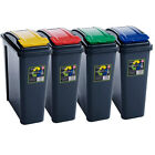 25L Litre Plastic Recycle Recycling Waste Rubbish Bin - Choice of Four Colours