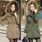Winter Warm Long Jacket Trench Coat Womens Hoodies Parka Overcoat Outwear New