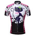 Cat girl Women Bike Sportwear Cycling Clothing Bicycle Short Sleeve Jersey Top