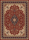 RED floral LEAVES transitional CASUAL area RUG tropical IVORY blue CARPET
