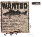 WANTED, Walleye Fish, Fisherman, New T-Shirt