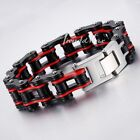 NEW Multi-colors Mens Chain Biker Motorcycle 316L Stainless Steel Bracelet HEAVY