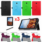 For Verizon Ellipsis 8 4G LTE Tablet Leather Case Cover/Screen Protector/Stylus
