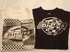 DICKIES Size 10-12 18 or 14-16 Short Sleeve Cotton Shirt Choice Black Off White